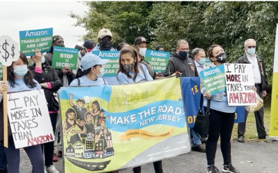 Worker advocates demand transparency in Port Authority's million-dollar deal with Amazon