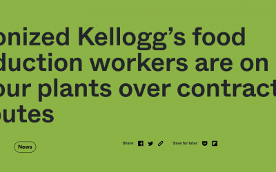 Unionized Kellogg's food production workers are on strike at four plants over contract disputes